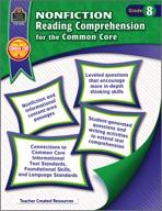 Nonfiction Reading Comprehension for the Common Core Grade 8 (Enhanced eBook)