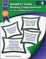 Nonfiction Reading Comprehension for the Common Core Grade 8 (eBook)