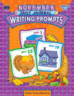 November Daily Journal Writing Prompts