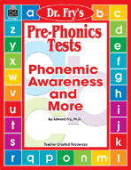 Pre-Phonics Tests by Dr. Fry (Enhanced eBook)
