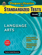 Prepare & Practice for Standardized Tests: Lang Arts Grd 7