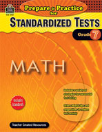 Prepare & Practice for Standardized Tests: Math Grd 7