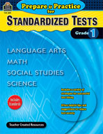 Prepare and Practice for Standardized Tests: Grade 1 (Enhanced eBook)