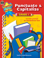 Punctuate and Capitalize: Grade 1 (Enhanced eBook)