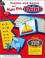 Puzzles and Games that Make Kids Think: Grade 1 (Enhanced eBook)