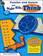 Puzzles and Games that Make Kids Think: Grade 2 (Enhanced eBook)