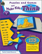 Puzzles and Games that Make Kids Think: Grade 5 (Enhanced eBook)