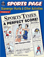 Sports Page Scavenger Hunts