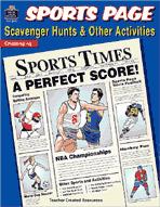 Sports Page Scavenger Hunts (Enhanced eBook)