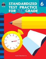 Standardized Test Practice for 6th: Grade (Enhanced eBook)