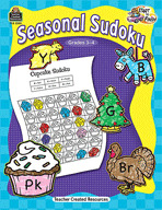 Start to Finish: Seasonal Sudoku: Grades 3-4 (Enhanced eBook)