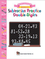 Subtraction Practice Double Digits