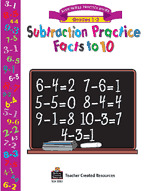 Subtraction Practice Facts to 10