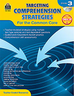 Targeting Comprehension Strategies for the Common Core Grade 3 (Enhanced eBook)