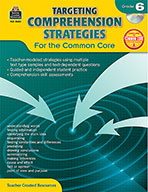 Targeting Comprehension Strategies for the Common Core Grade 6 (Enhanced eBook)