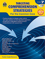Targeting Comprehension Strategies for the Common Core Grade 7 (Enhanced eBook)