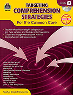 Targeting Comprehension Strategies for the Common Core Grade 8 (Enhanced eBook)