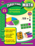 Targeting Math: Numeration and Fractions: Grades 5-6 (Enhanced eBook)