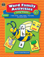 Word Family Activities: Long Vowels: Grades K-1 (Enhanced eBook)