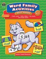 Word Family Activities: Short Vowels: Grades K-1 (Enhanced eBook)