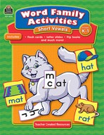 Word Family Activities: Short Vowels Grd K-1