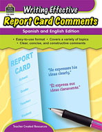 Writing Effective Report Card Comments: Spanish and English Edition (Enhanced eBook)