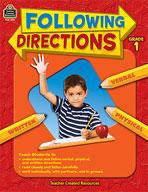 Following Directions: Grade 1 (Enhanced eBook)