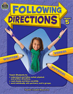 Following Directions: Grade 5 (Enhanced eBook)