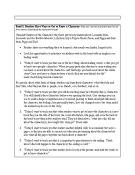 TCRWP Getting to know your character- Reading MAP