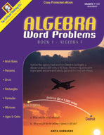 Algebra Word Problems Book 1
