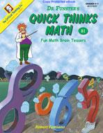 Dr. Funster's Quick Thinks Math B1