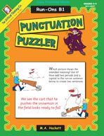 Punctuation Puzzler: Run-Ons B1