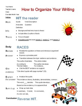 TDA Organization Poster using RACES & HIT the Reader