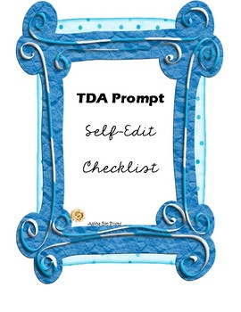 TDA Self-Editing Checklist for PSSA