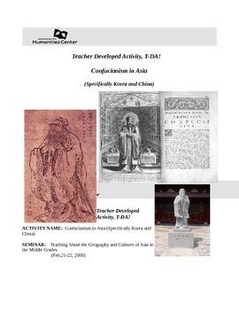 TDA Seminar Activity Confucianism in Asia