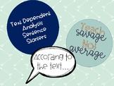 TDA Sentence Starters