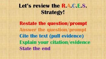 TDA Writing: R.A.C.E.S. / Organization