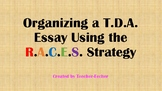 TDA Writing: R.A.C.E.S. / Organization