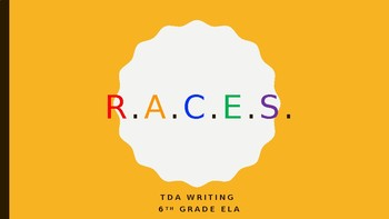 TDA Writing: R.A.C.E.S. PowerPoint