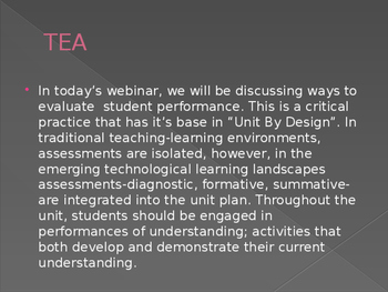 TEA - Technology for Evaluations and Assessments in World Language