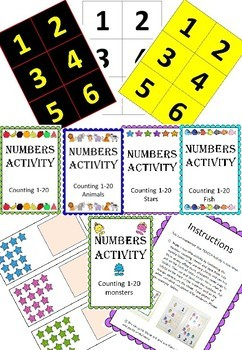 Adapted Maths workstation mega bundle pack counting numbers 1-20 - Inclusivity