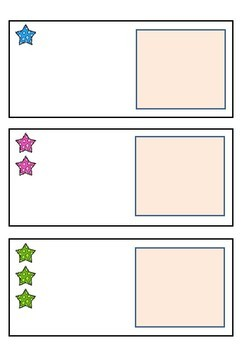 Adapted Maths workstation counting numbers 1-20 stars - Inclusivity