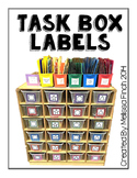 TEACCH Task Box Labels