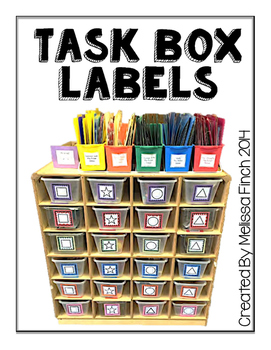 teacch task box labels by autism adventures melissa finch tpt