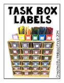 Task Box Labels