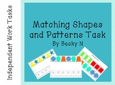 Matching Shapes and Patterns Task