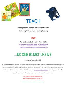 Teach Ela Kindergarten Standards Using Popular Books 1 No One Is