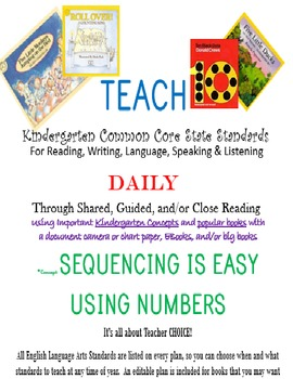 TEACH ELA Kindergarten Standards Using Popular Books - #3
