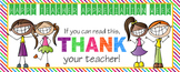 TEACHER APPRECIATION BANNER - THANK YOU - large banner