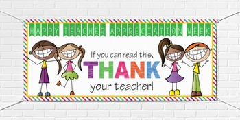 TEACHER APPRECIATION BANNER - THANK YOU - large banner
